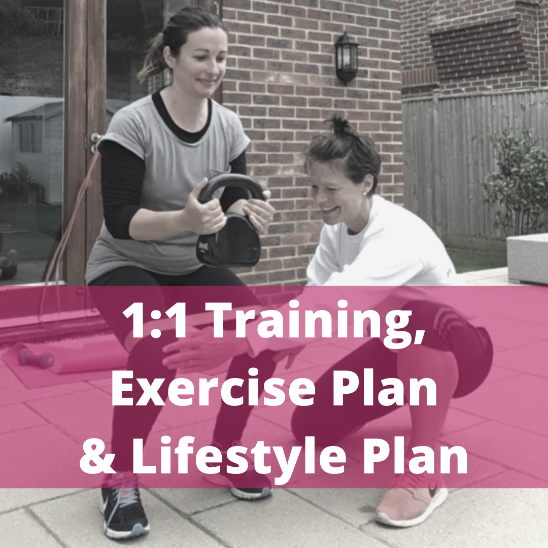 1 to 1 training and lifestyle plan